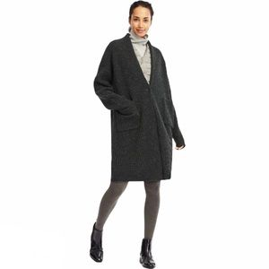 Uniqlo Wool Ribbed Knitted Long Cardigan Coat S